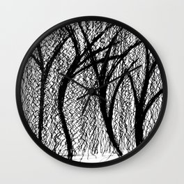 Trees in the MoMA sculpture garden Wall Clock