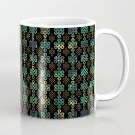 Endless Knot Pattern - Gold and Marble Coffee Mug