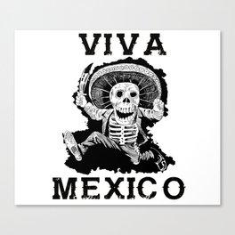 Viva Mexico Mad Dead Mariachi Canvas Print