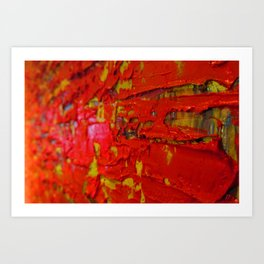 Up Close & Personal with Red Townscape II, #2 Art Print