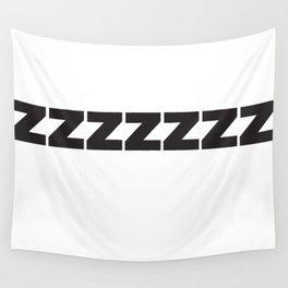 ZZZZZZ Black on White Wall Tapestry