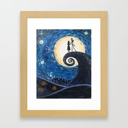 Jack Skellington & Sally Framed Art Print