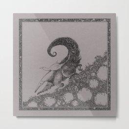 Sweet ride, egret! Metal Print