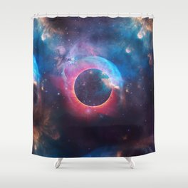 The Nebula Shower Curtain