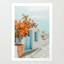 Greece Airbnb #photography #greece #travel Art Print