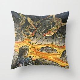 Alice & The Jabberwocky Throw Pillow