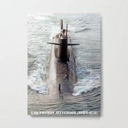 USS THOMAS JEFFERSON (SSBN-618) Metal Print