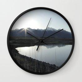 Mission Mountain Sunrise Wall Clock