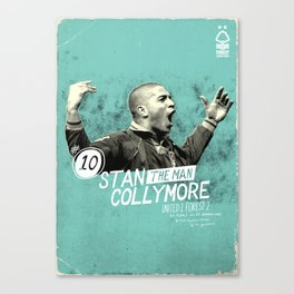 Nottingham Forest Legends Series: Stan Collymore Graphic Poster Canvas Print