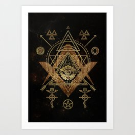 Mystical Sacred Geometry Ornament Art Print