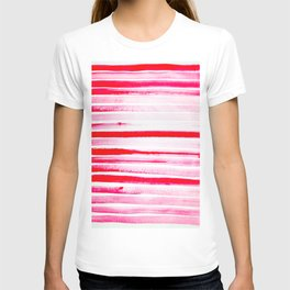 Christmas Candy Cane Red Stripe T-shirt