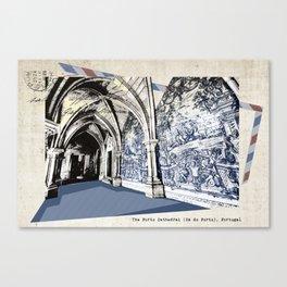 Porto post card Canvas Print