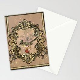 Cute little steampunk bird Stationery Cards