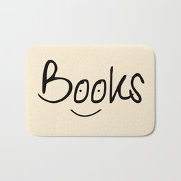 Books Smile Bath Mat