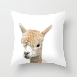 Fawn Alpaca Throw Pillow