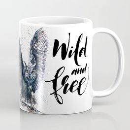 Owl wild & free Coffee Mug