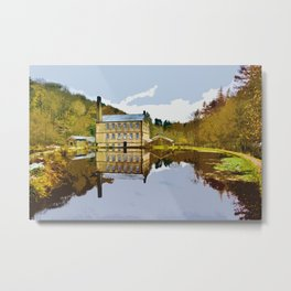 Gibson Mill - Hardcastle Crags Metal Print