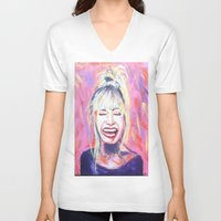 allyson johnson V-neck T-shirts featuring Betsey Johnson by AntiPosi
