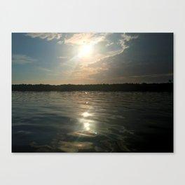 River Sun Canvas Print