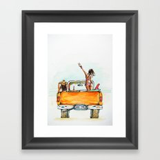 Dream Surf Truck Framed Art Print
