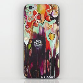 """Release Become"" Original Painting by Flora Bowley iPhone Skin"