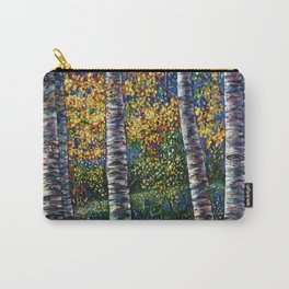 A Midsummer Dream Aspen Trees Palette Knife Painting  Carry-All Pouch