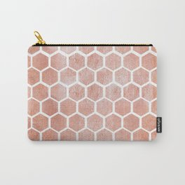 Rose gold bee cube Carry-All Pouch