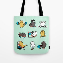 Leg Day with Persian Cat Tote Bag