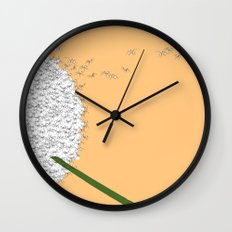 Flying ants Wall Clock