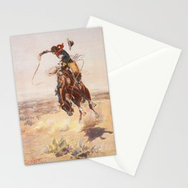 A Bad Hoss by Charles Marion Russell (c 1904) Stationery Cards