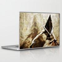 silent hill Laptop & iPad Skins featuring Silent Hill Pyramid Head by Joe Misrasi