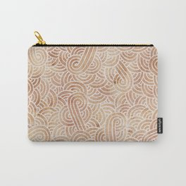 Iced coffee and white swirls doodles Carry-All Pouch