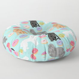 Toy Poodle donuts pet portrait dog breed dog pattern pet friendly dog lovers Floor Pillow