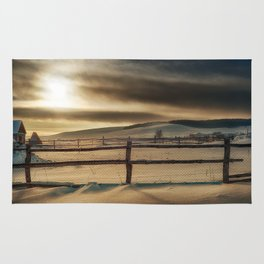 Visions of Sun Snow Rug