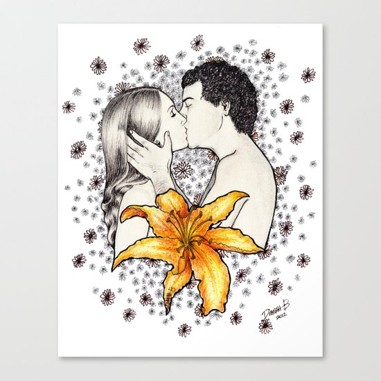 Love is like a Flower... Canvas Print