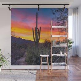 Land of Giants - Saguaro Cactus at Sunrise in the Sonoran Desert Wall Mural