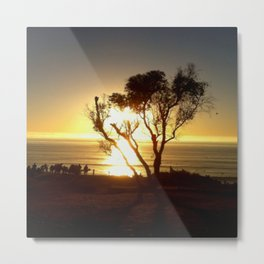 Fire and Water - a California sunset Metal Print