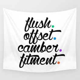 flush offset camber fitment v5 HQvector Wall Tapestry