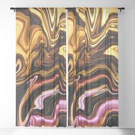 Modern Liquid Gold Pink Trendy Girly Elegant Luxury Sheer Curtain