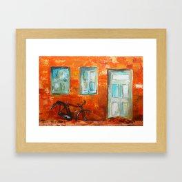 Orange Street Framed Art Print