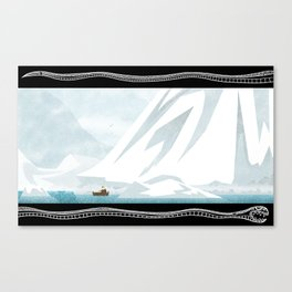 Coal in the Icebergs Canvas Print