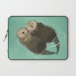 Significant Otters - Otters Holding Hands Laptop Sleeve
