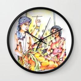 Goddess Laxmi with God Vishnu Wall Clock