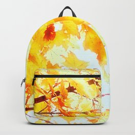 Yellow Maple leaves, Autumn Unfolds Backpack