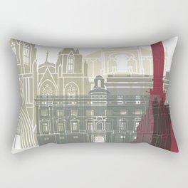 Barcelona skyline poster Rectangular Pillow