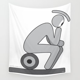 the thinker eye Wall Tapestry