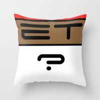 et Throw Pillows featuring ET? by TLineInc
