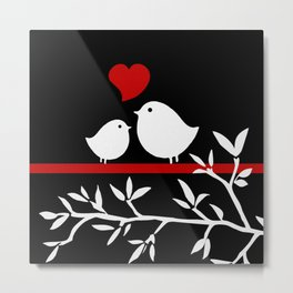 Two Little Tweets  Metal Print