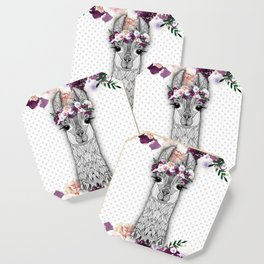 FLOWER GIRL ALPACA Coaster