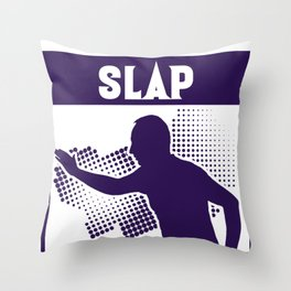 Slap Competition Hands Fingers Fun Funny Game Gift Throw Pillow